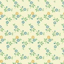 Super Tiny Yellow and Blue Floral Print Paper ~ Carta Varese Italy