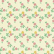Super Tiny Yellow and Pink Floral Print Paper ~ Carta Varese Italy