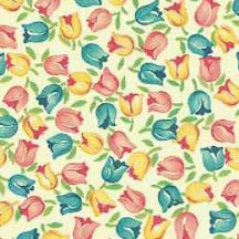 Petite Tulips Floral Print Paper ~ Carta Varese Italy