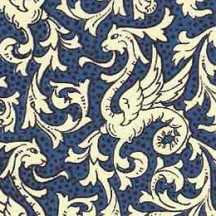 Blue Griffin Dragon Print Italian Paper ~ Carta Varese Italy