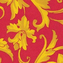 Red and Yellow Bold Garland Print Italian Paper ~ Carta Varese Italy