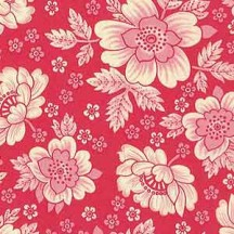 Red and Pink Floral Print Italian Paper ~ Carta Varese Italy