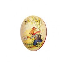 "3 1/2"" Papier Mache Bunny Easter Egg Container ~ Germany"