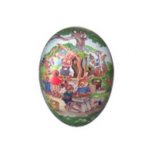 "4 1/2"" Papier Mache Bunny Egg Market Easter Container ~ Germany"