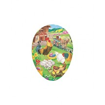 "3-1/2"" Rooster Farm Papier Mache Easter Egg Container ~ Germany"