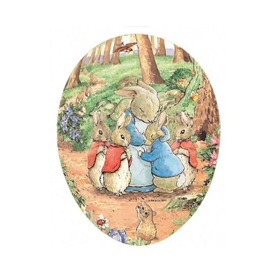 "4-1/2"" Peter Rabbit Papier Mache Easter Egg Container ~ Germany"