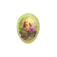 "3-1/2"" Green Holly Pond Hill Bunny Garden Swing Easter Egg Container ~ Germany"