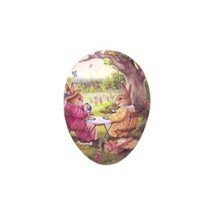 "3-1/2"" Holly Pond Hill Bunny Afternoon Tea Easter Egg Container ~ Germany"