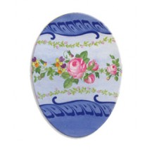 "7"" Papier Mache Blue Floral Easter Egg Container ~ Germany"