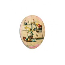 "3 1/2"" Papier Mache Chicks Breakfast Egg Container ~ Germany"