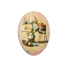 "4 1/2"" Papier Mache Chicks Breakfast Egg Container ~ Germany"