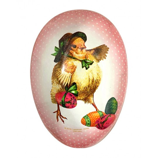 "7"" Vintage Chick Papier Mache Easter Egg Container ~ Germany"