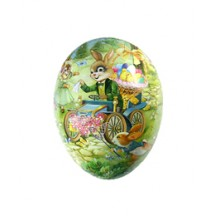 "4 1/2"" Papier Mache Bunny Easter Auto Egg Container ~ Germany"