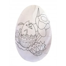 "6"" DIY White Easter Egg Container with Chick and Flowers ~ Sweden"