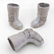 "Mini 2-3/4"" Unfinished Papier Mache Santa Boot"