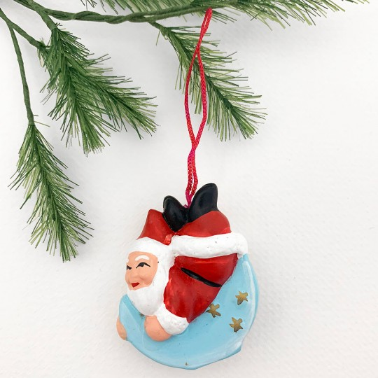 Tomte Gnomes Handpainted Folkloric Pottery Ornaments ~ Sweden ~ Set of 4