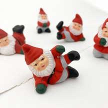 Tomte Gnomes Handpainted Folkloric Pottery Miniatures ~ Sweden ~ Set of 5
