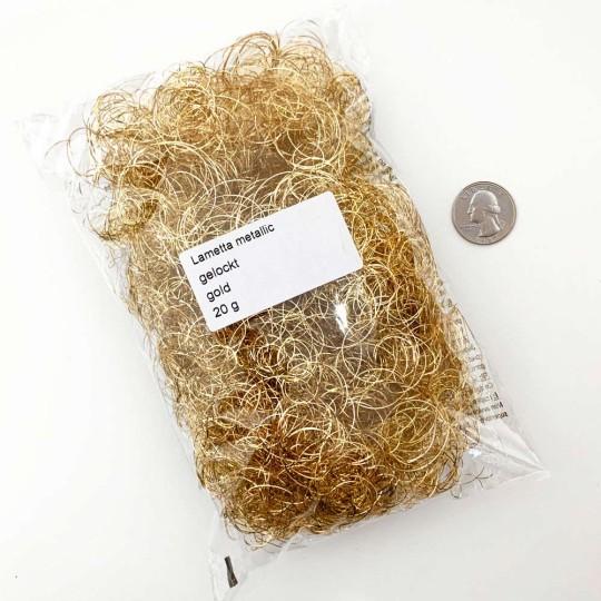 Gold Curly Lametta Angel Hair Decohaar ~ Germany