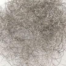Silver Curly Lametta Angel Hair Decohaar ~ Germany