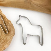 "Dala Horse Cookie Cutter ~ Sweden ~ 3-5/8"" tall"