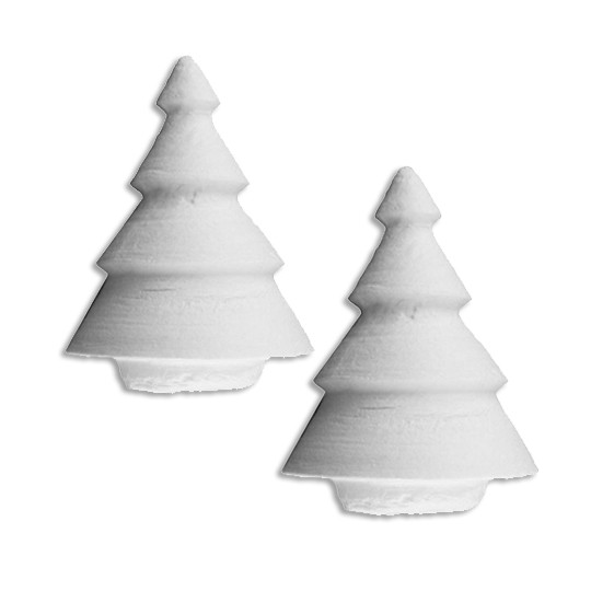 "2 Spun Cotton Christmas Trees 2"" ~ Czech Republic"