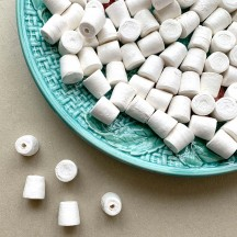 10 Small Spun Cotton Marshmallows, Gumdrops or Light Bulb Bases ~ 1/2""