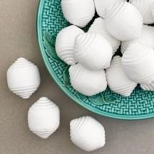 "Ribbed Spun Cotton Geometric Shape for Christmas Crafts ~1-5/8"" tall ~ 8 pcs"