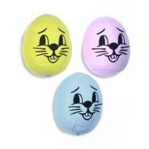 "3 Assorted Medium Spun Cotton Bunny Heads 1 1/4"""
