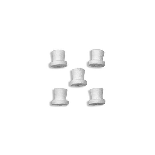 "8 Spun Cotton Small Hats 1/2"" ~ Czech Republic"