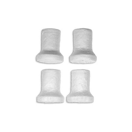 """6 Spun Cotton Stovepipe Hats 7/8"""" ~ Czech Republic"""