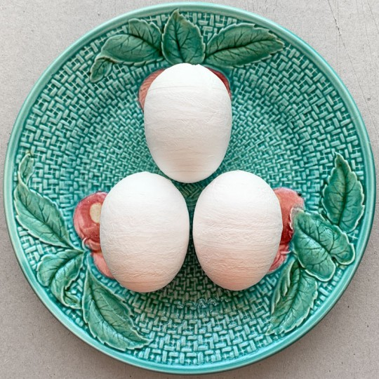"""3 Large Spun Cotton Eggs  for Easter Crafts ~ 2-1/8"""""""