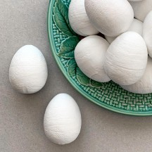 5 Spun Cotton Eggs for Easter Crafts ~ 1-1/2""