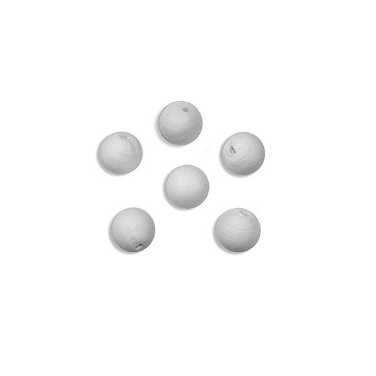 "10 Round Spun Cotton Balls 1/2"" ~ Czech Republic"