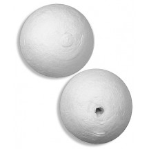 "2 Large Round Spun Cotton Balls 1-1/2"" ~ Czech Republic"