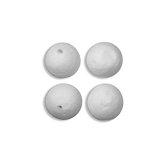 "4 Round Spun Cotton Balls ~ 1-1/4"" ~ 31mm"