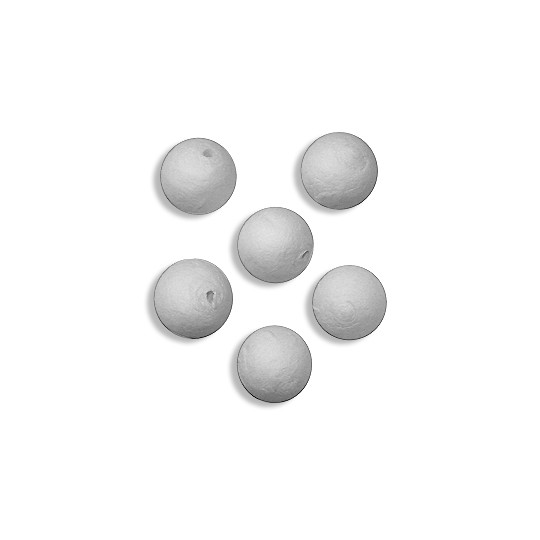 "8 Round Spun Cotton Balls 3/4"" ~ Czech Republic"