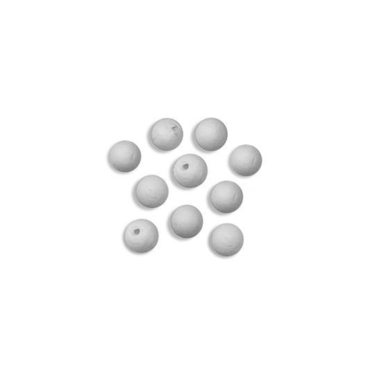 "20 Tiniest Round Spun Cotton Balls 1/4"" ~ Czech Republic"