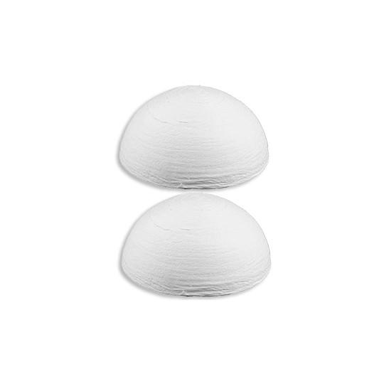 "4 Spun Cotton Half Balls, Hats, Mushroom Caps 1-7/8"" ~ Czech Republic"