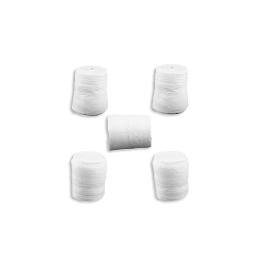 """6 Spun Cotton Assymetrical Logs or Marshmallows 3/4"""" ~ Czech Republic"""