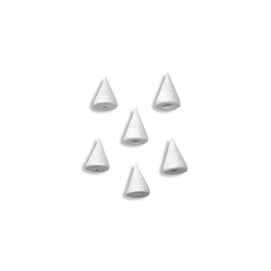 """10 Small Spun Cotton Cones or Noses 7/8"""" ~ Czech Republic"""