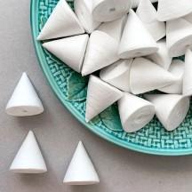 """5 Spun Cotton Cones, Noses or Hats 1-1/4"""" ~ Czech Republic"""
