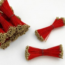 Gold and Red Stamen Peps for Flower Making and Holiday Crafts