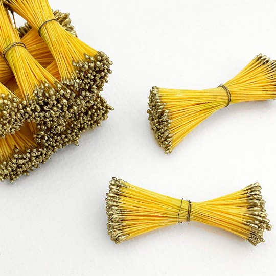 Gold and Yellow Stamen Peps for Flower Making and Holiday Crafts