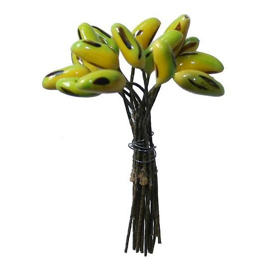 "15 Miniature Composition Bananas ~ 3/8"" ~ Czech Republic"