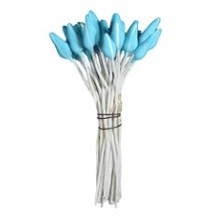 Matte Turquoise with White Stripe Flower Stamen ~ Germany