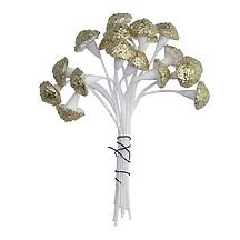Petite Metallic Textured Gold Mushroom Stamen ~ Germany