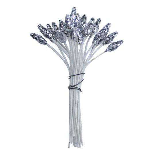 Metallic Silver Glitter Stamen Peps ~ Germany
