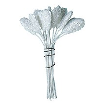 Long Paddle Shaped Textured Clear Glittered Stamen ~ Germany