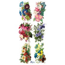1 Sheet of Stickers Mixed Flower Bunches
