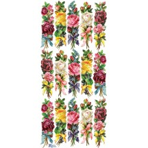 1 Sheet of Stickers Mixed Rose Bouquets